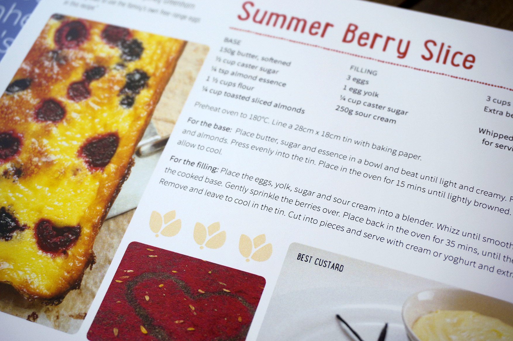 Summer Berry Slice recipe page