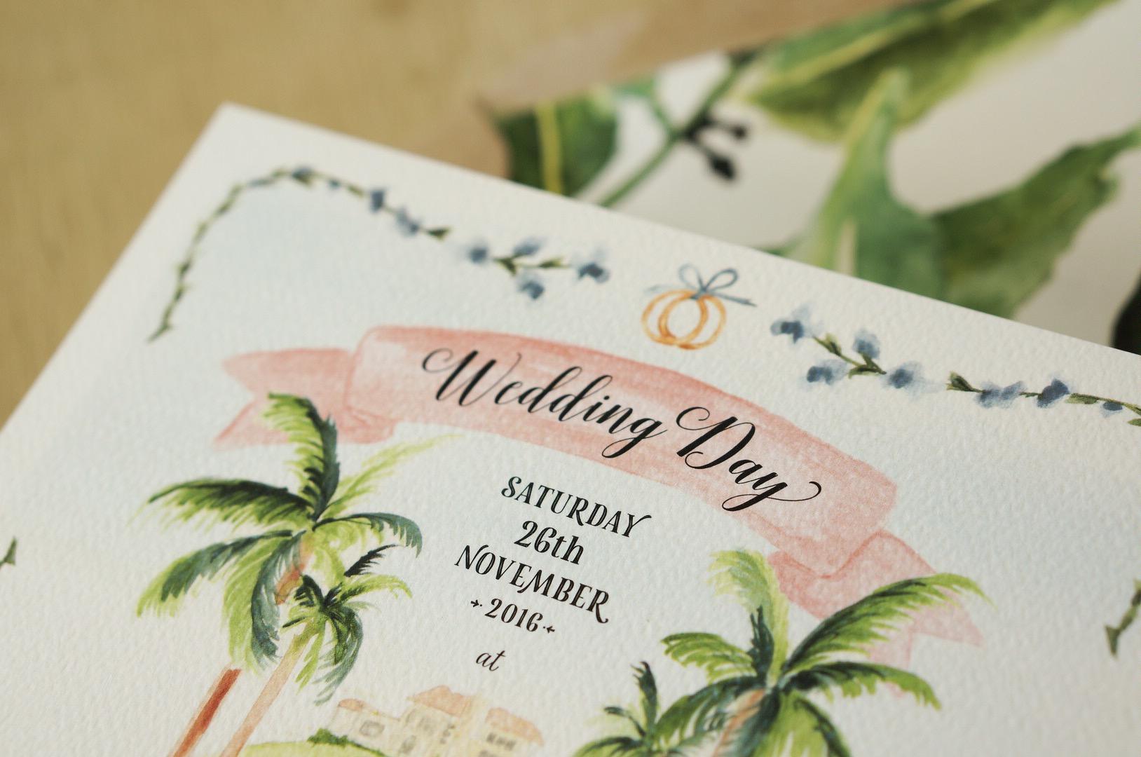 Wedding Suite design watercolour