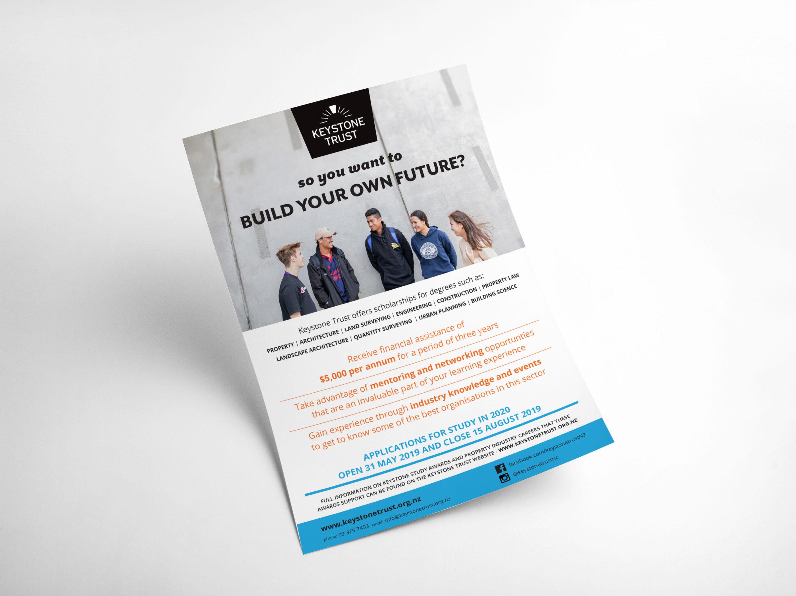 Keystone Trust Build Your Own Future Flyer A4 Mockup