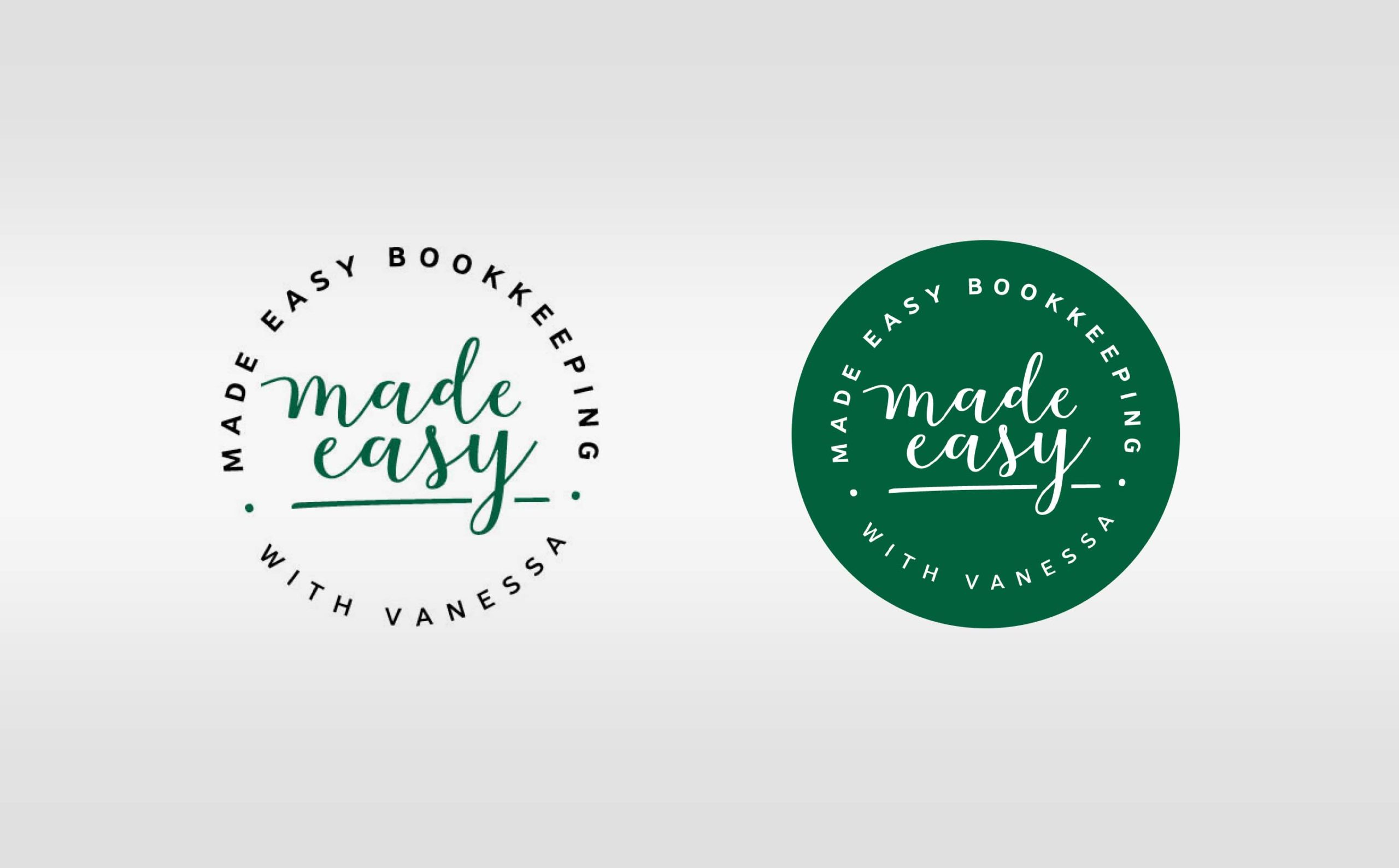 made easy bookkeeping logo round badges
