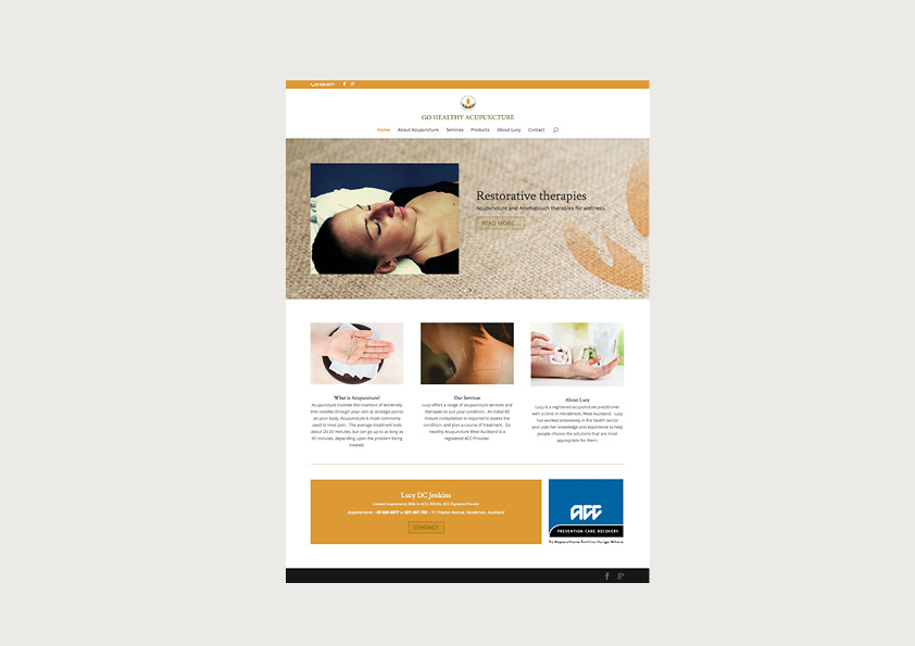 Go Healthy Acupuncture website