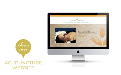 A simple self-managed website for an acupuncture therapist