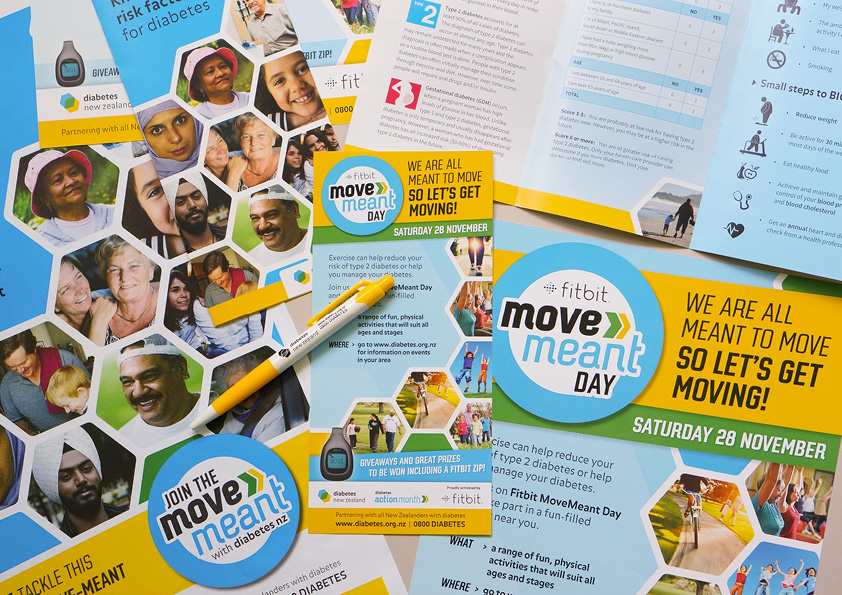 Diabetes Action Month Movemeant Day Posters