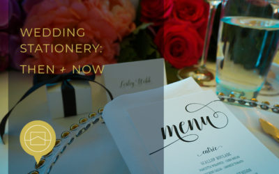 Wedding stationery – then and now