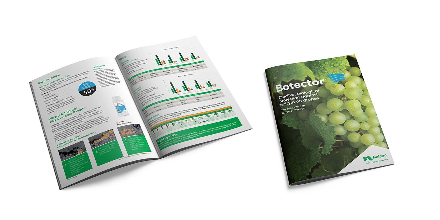 botrytis protection brochure for Nufarm Botector
