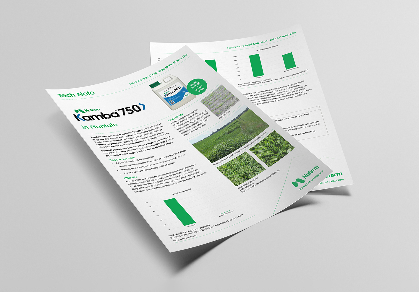 Agricultural chemical product information flyer